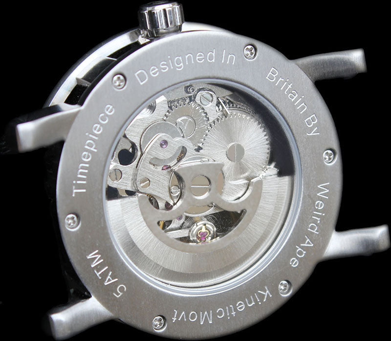 A picture of a mechanical watch in the manufacturing process.