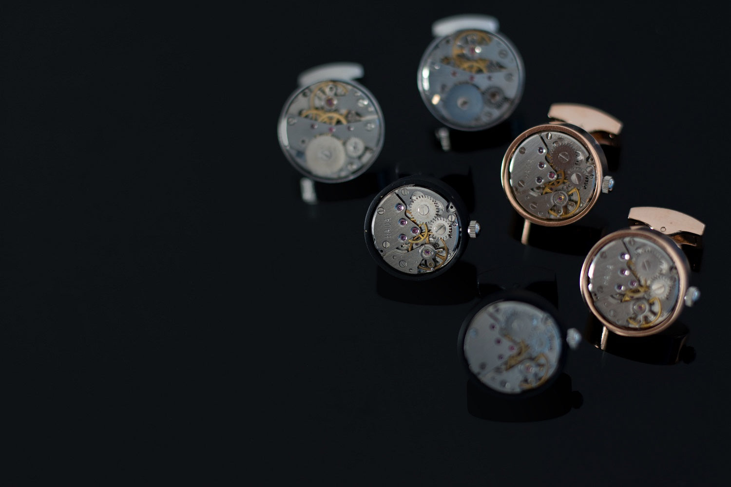 The ion plating used on a mechanical watch.