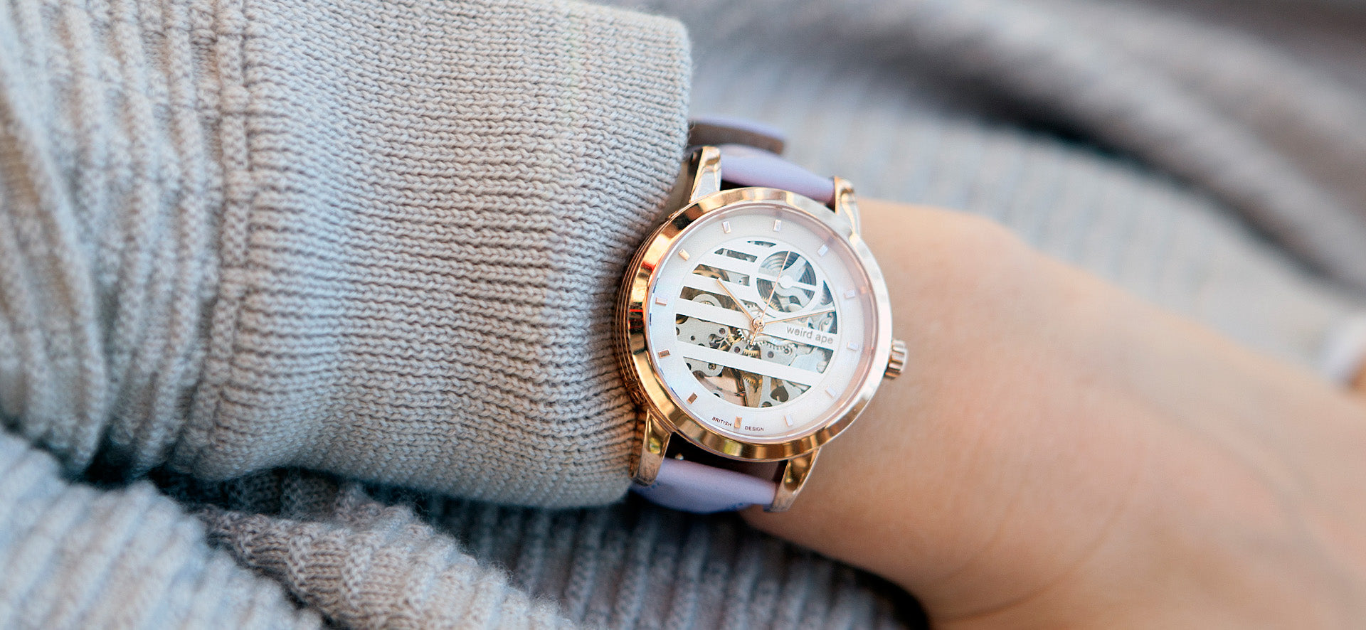 Womens skeleton watch