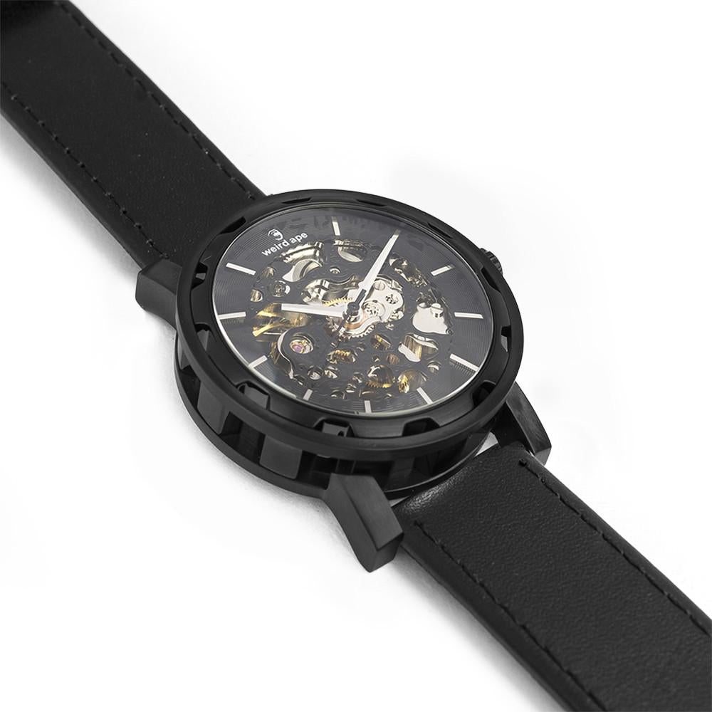 Weird Ape Kolt - Men's Black skeleton watch with Black strap