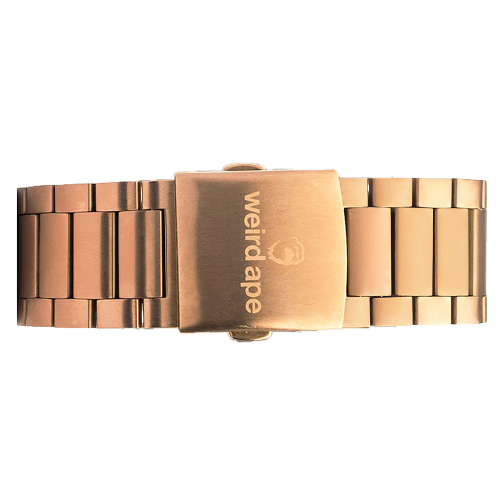 Weird Ape men's Rose Gold Link 20mm Strap