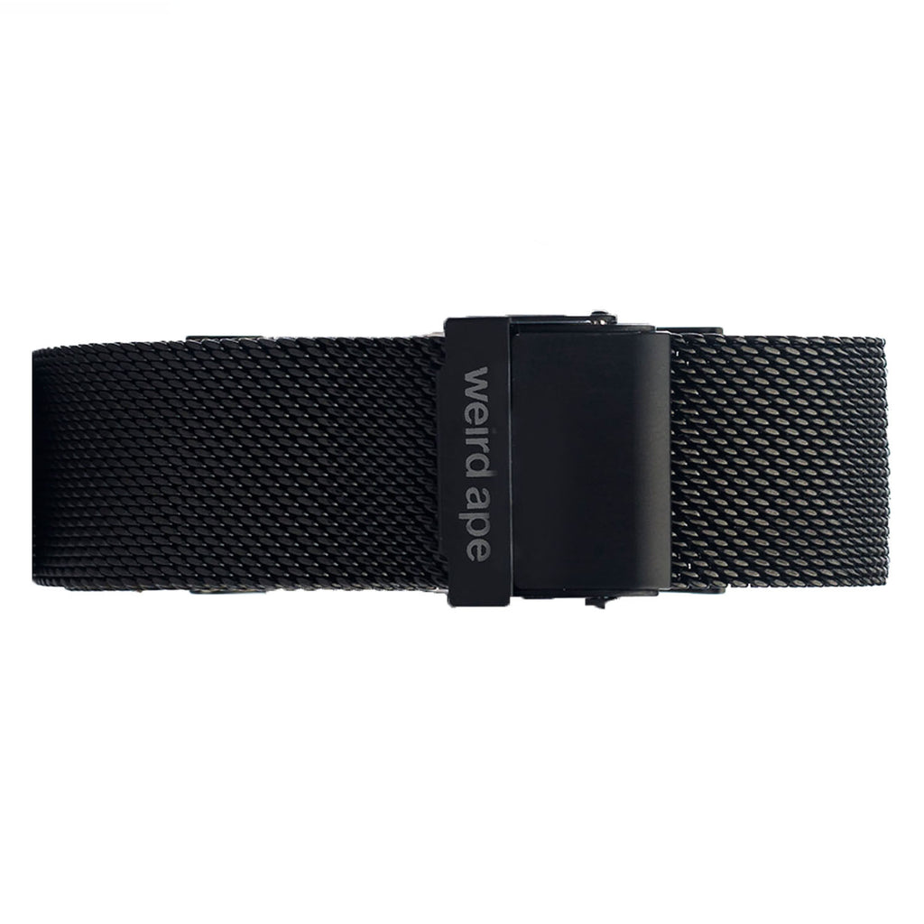 Weird Ape men's Black Mesh 20mm Strap