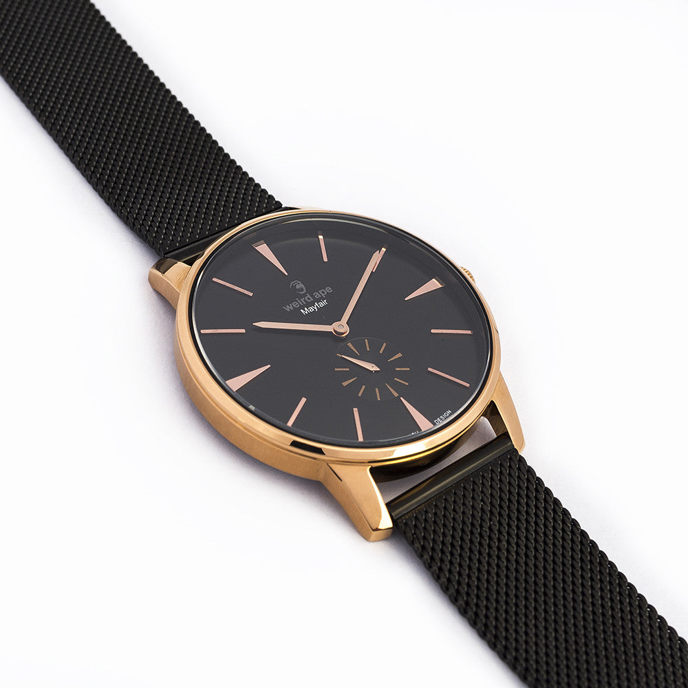 Mayfair - Black Rose Gold / Black Mesh
