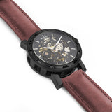 Weird Ape Kolt - Men's Black skeleton watch with Royal Blood strap