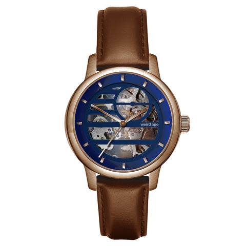 Rosalind - Blue Rose Gold / Oak Leather