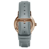 Weird Ape Rosalind - Women's Rose gold skeleton watch with a Soft Grey strap