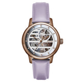 Weird Ape Rosalind - Women's Rose gold skeleton watch with a Lilac strap