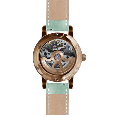 Weird Ape Rosalind - White Rose Gold / Mint Green Leather