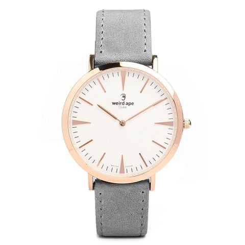 A photo of a Rose gold minimalist watch from our Rose gold simple mens watches.