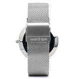 A photo of a Silver minimal analog watch design from our Silver minimalist watches uk.