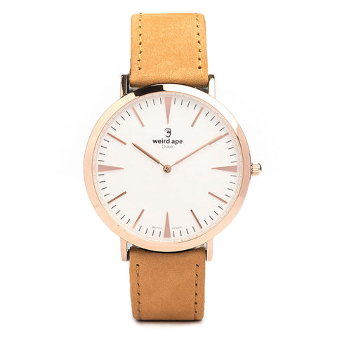 A photo of a Rose gold cheap minimalist watch from our Rose gold minimalist watches.