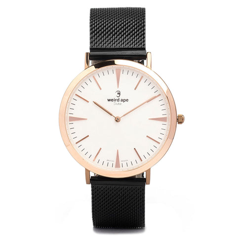A photo of a Rose gold minimal watch from our Rose gold simple mens watches.
