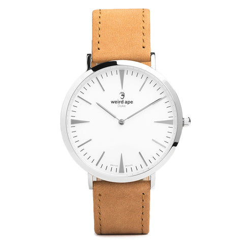 A photo of a Silver minimal analog watch from our Silver minimal watches.
