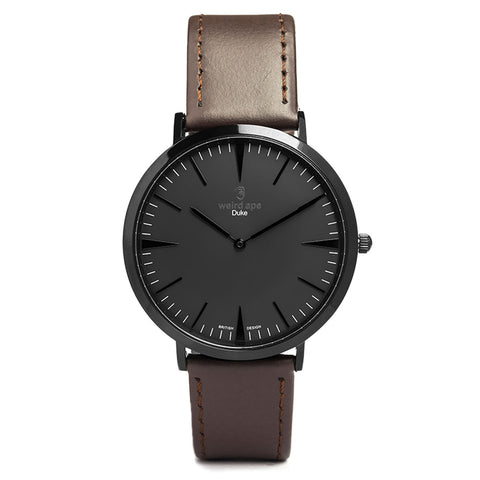 A photo of a Black cheap minimalist watch from our Black simple mens watches.