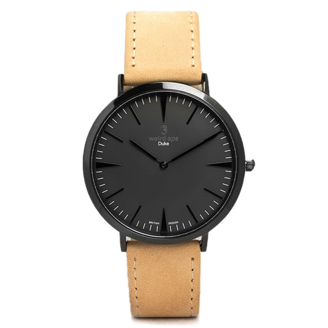 A photo of a Black minimal watch from our Black minimalist watches.