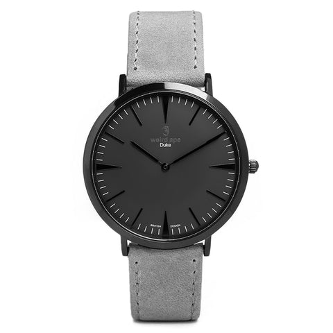 A photo of a Black minimal analog watch design from our Black simple mens watches.