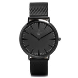 A photo of a Black minimalist watch from our Black simple mens watches.