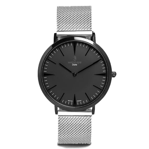A photo of a Black cheap minimalist watch from our Black minimalist watches.