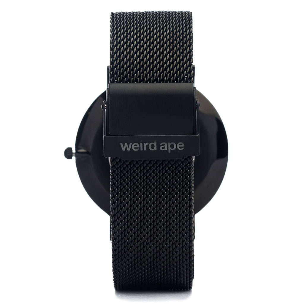 A photo of a Black minimal watch from our Black minimalist mens watches.