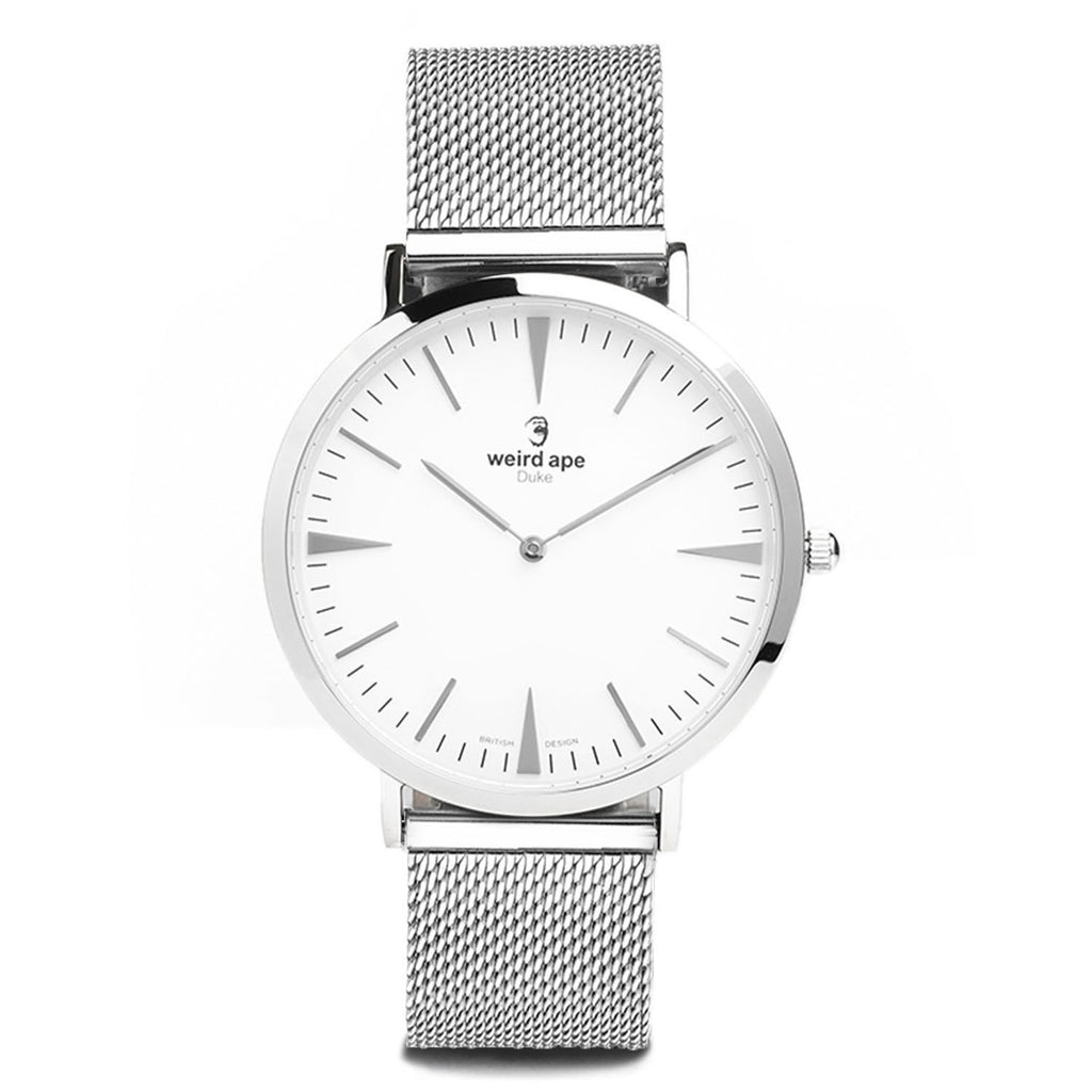 A photo of a Silver cheap minimalist watch from our Silver minimal watches.