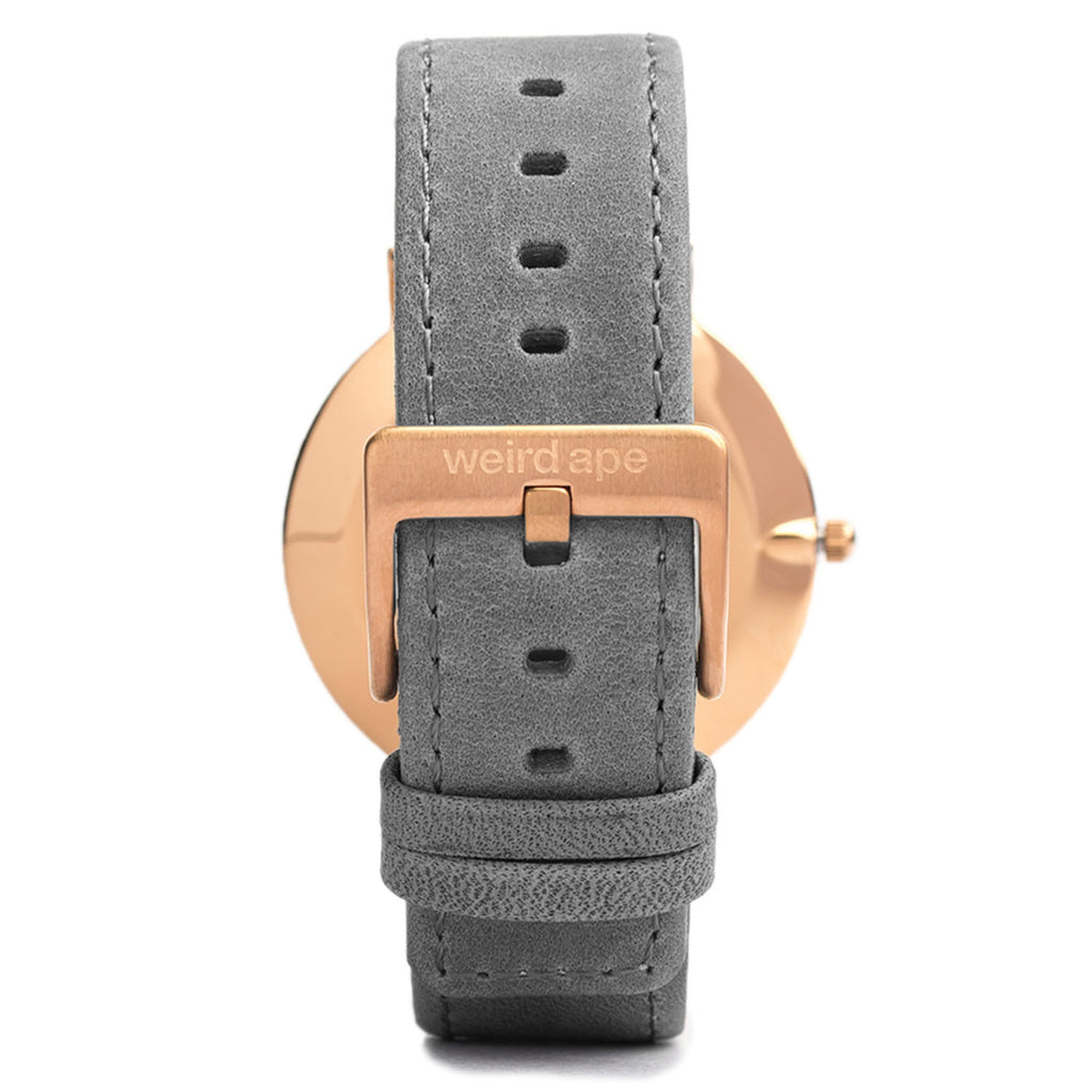 A photo of a Rose gold minimal watch from our Rose gold minimalist mens watches.