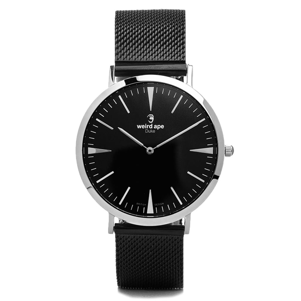 A photo of a Silver cheap minimalist watch from our Silver minimalist mens watches.
