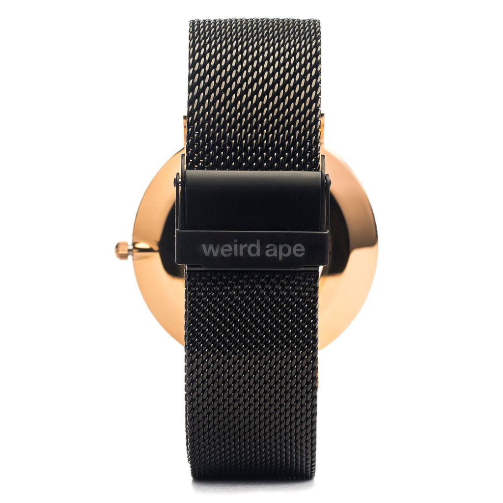 A photo of a Rose gold minimalist watch from our Rose gold minimalist mens watches.
