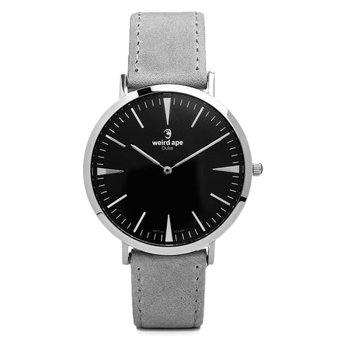 A photo of a Silver minimal analog watch from our Silver minimalist mens watches.