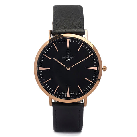 A photo of a Rose gold minimal analog watch design from our Rose gold minimalist watches.