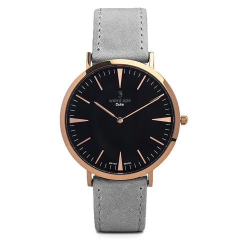 A photo of a Rose gold cheap minimalist watch from our Rose gold simple mens watches.