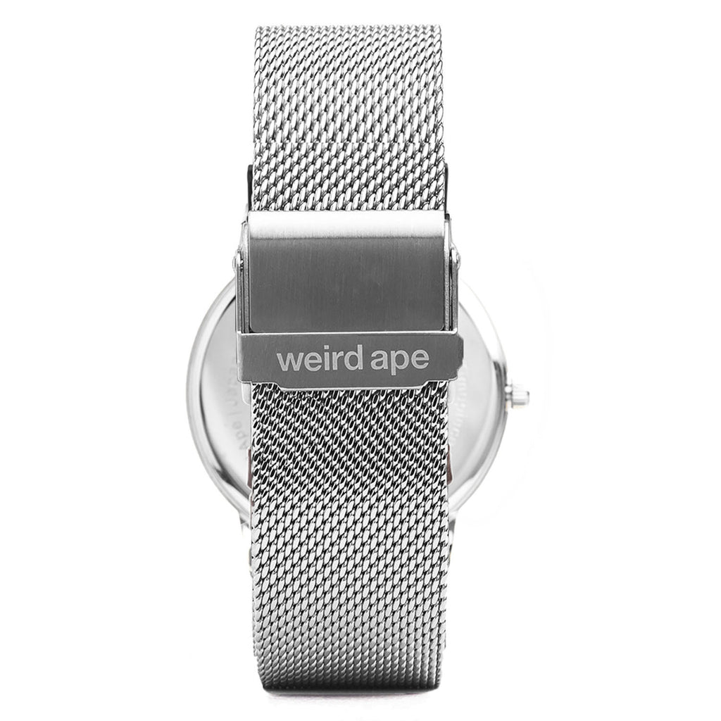 A photo of a Silver minimal analog watch design from our Silver minimalist watches.