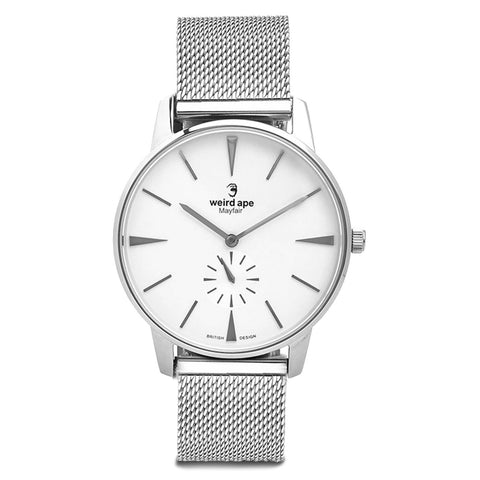 A photo of a Silver cheap minimalist watch from our Silver minimalistic watches.