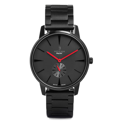 A photo of a Black minimal analog watch from our Black minimalist watches.
