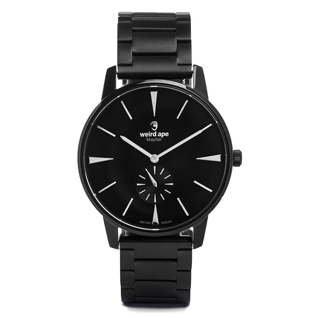 A photo of a Black minimal analog watch from our Black minimal watches.