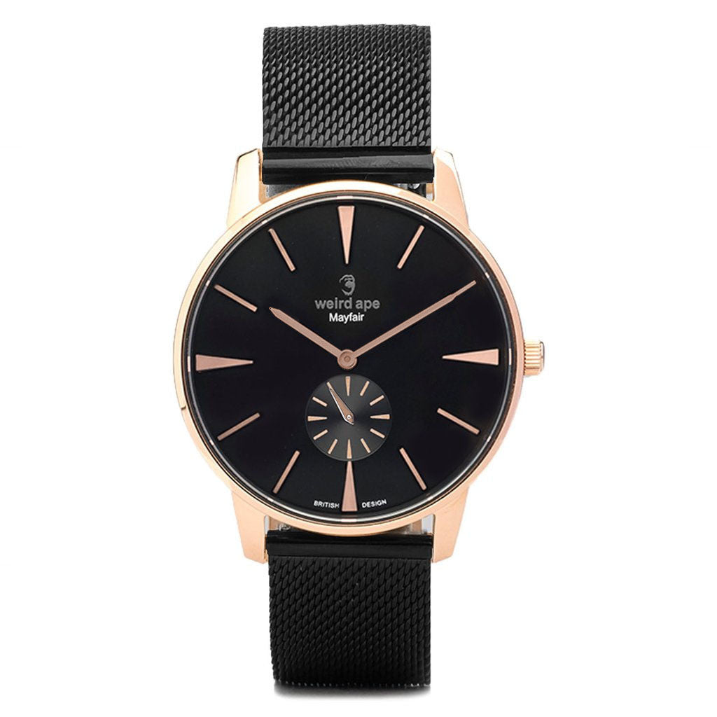 A photo of a Rose gold minimal watch from our Rose gold minimalist watches uk.
