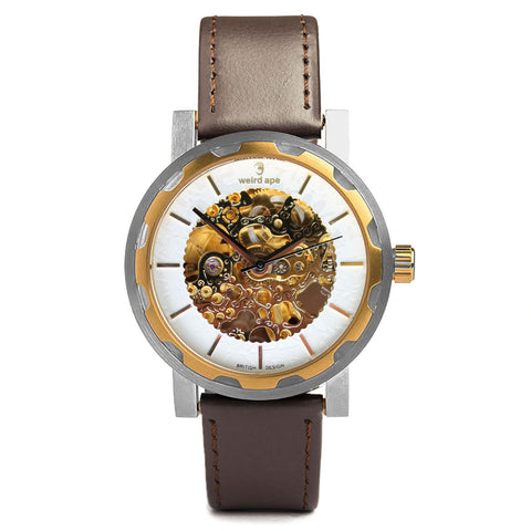 A photo of a Gold skeleton watch men from our Gold skeleton watches uk.