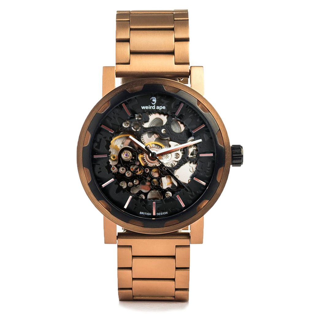 Kolt - Black Rose Gold / Rose Gold Link