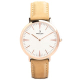 Duke - White Rose Gold / Sandstone Suede