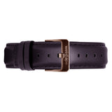Aubergine Leather 16mm Strap