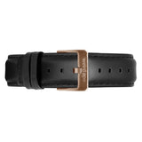 Weird Ape women's Black Leather 16mm Strap