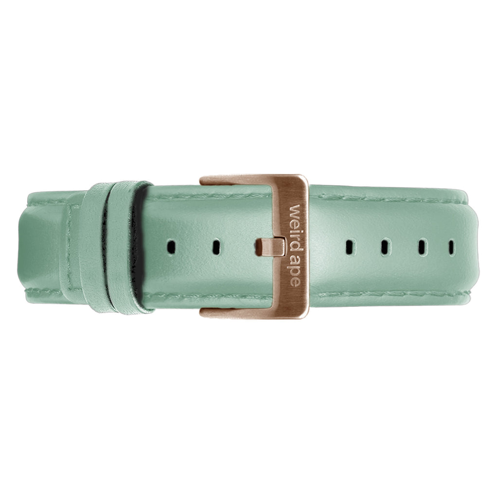 Weird Ape women's Mint Green Leather 16mm Strap