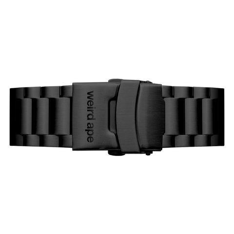 Weird Ape Weird Ape men's Black Link 20mm Strap