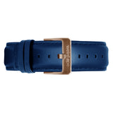 Weird Ape men's Indigo Blue Leather 20mm Strap