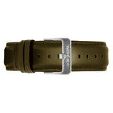 Weird Ape men's Olive Green Leather 20mm Strap