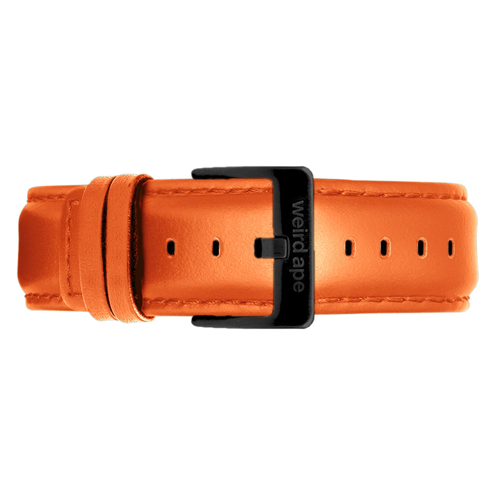 Weird Ape men's Orange Leather 20mm Strap