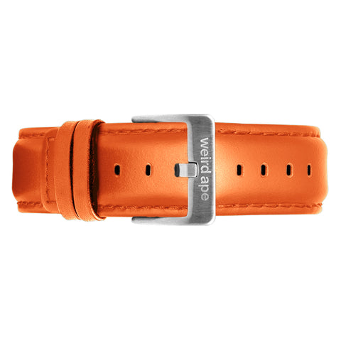 Weird Ape Weird Ape men's Orange Leather 20mm Strap