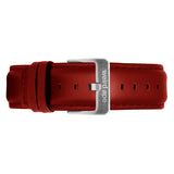 Weird Ape men's Red Leather 20mm Strap