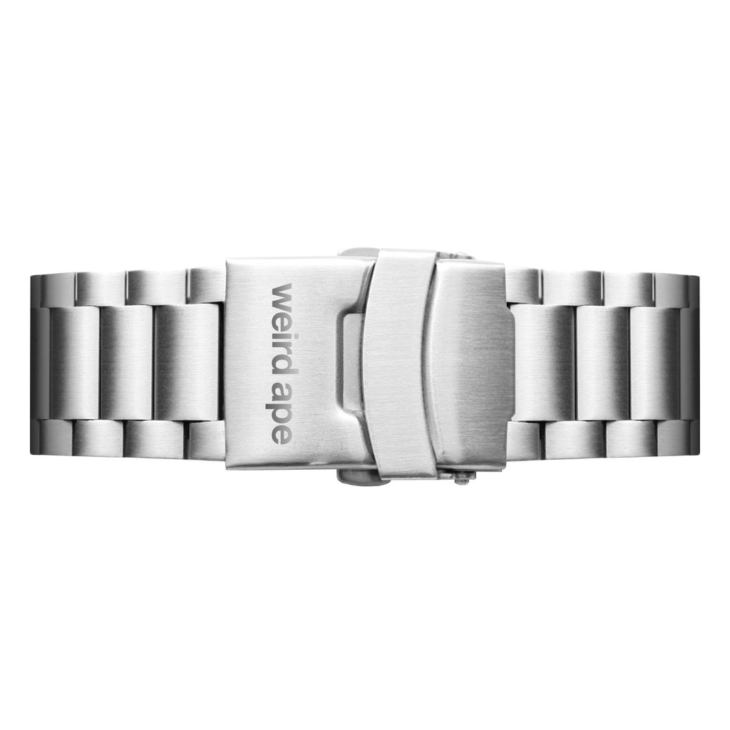 Weird Ape men's Silver Link 20mm Strap