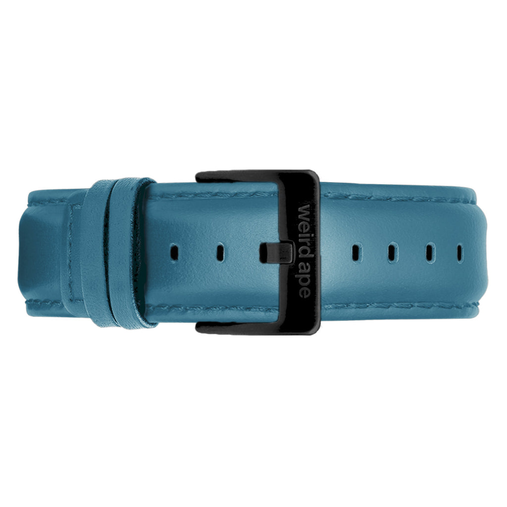 Weird Ape men's Sky Blue Leather 20mm Strap