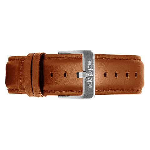 Weird Ape Weird Ape men's Tan Leather 20mm Strap